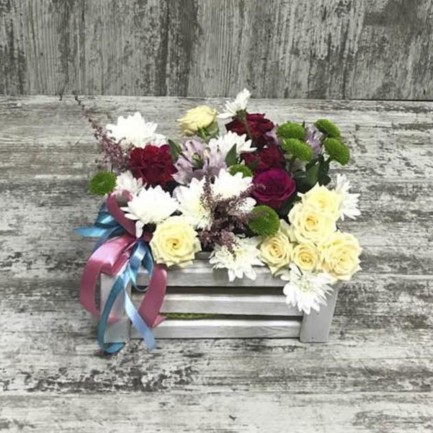 Ящик с цветами  «Цветовой аспект»